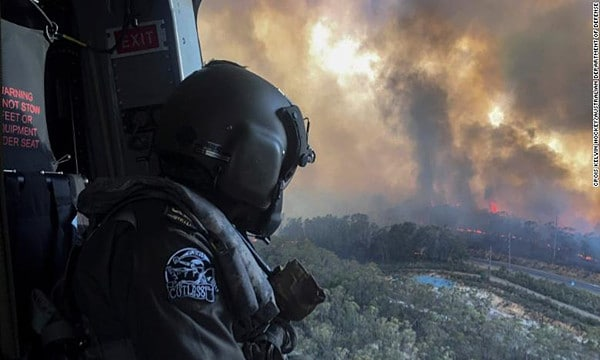 Rescues from around the world on Australian wildfires