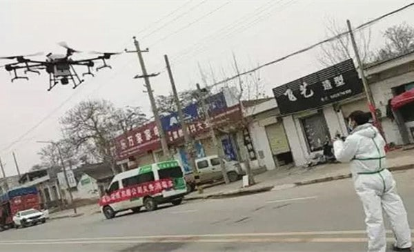 dji provides drones and fliers to help Chinese pneumonia virus
