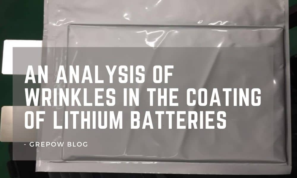 An analysis of wrinkles in the coating of lithium batteries