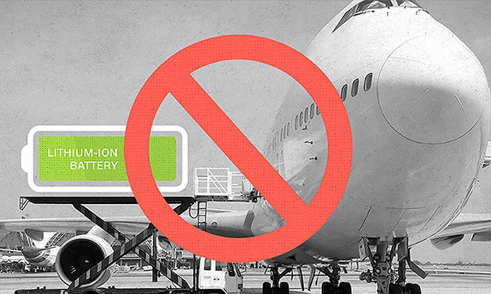 lithium battery is not allow on airplane