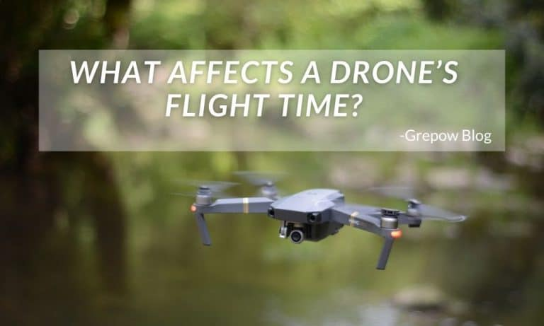What affects a drone's flight time?