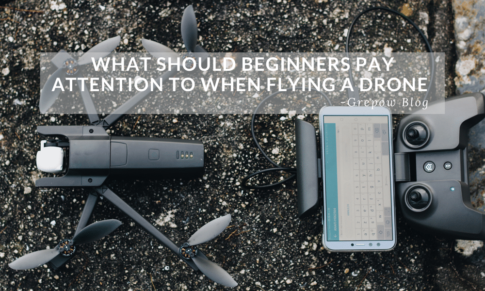 What should beginners pay attention to when flying a drone?