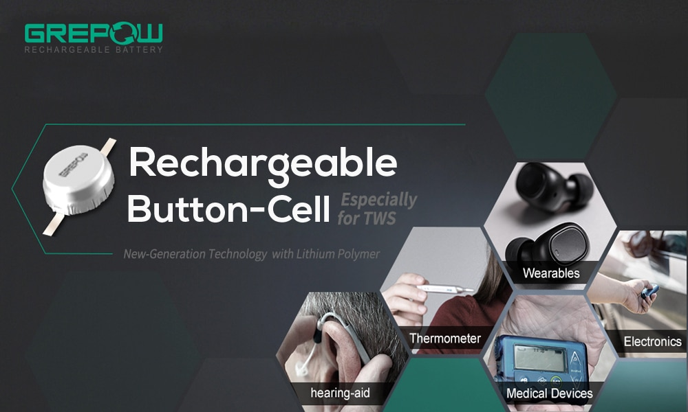 Rechargeable Button-Cell Battery