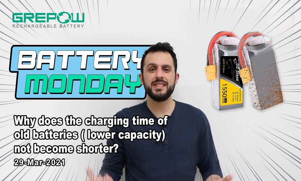 Why does the charging time of old batteries ( lower capacity) not become shorter - Battery Monday 29 MAR 2021