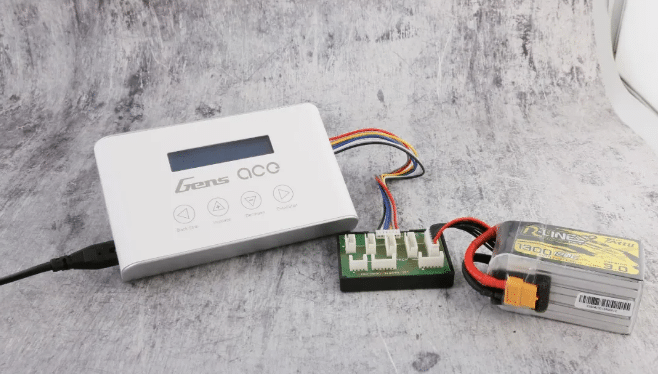 GENS ACE IMARS 3 RC Battery Charger is Charging an RC battery