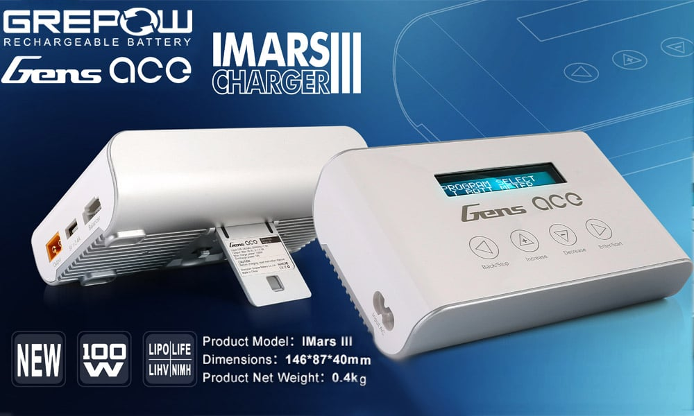 Grepow lipo battery charger for rc cars GENSACE ImarsIII