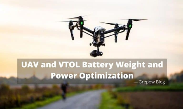 UAV and VTOL Battery Weight and Power Optimization