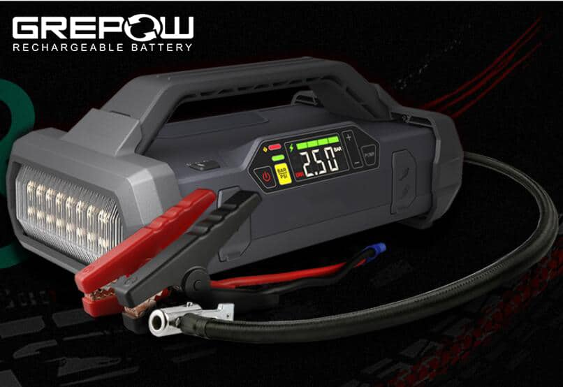 GREPOW 2000A Jump Starter with Air Inflator