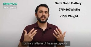 semi solid battery with 15% lighter weight | Grepow