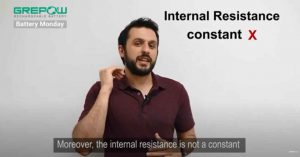 the internal resistance is not a constant | Grepow