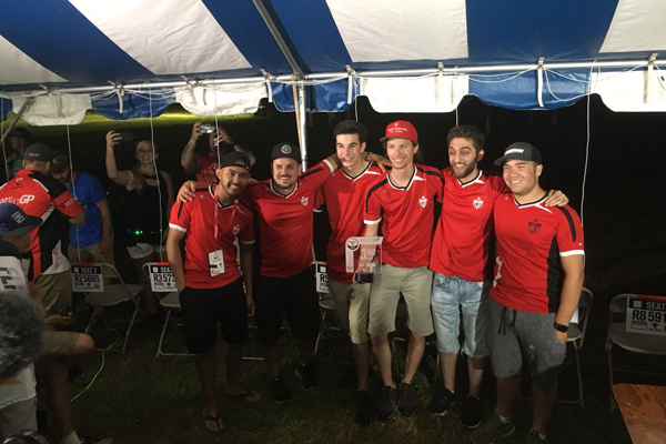 Team Canada FPV(there are 2 of Tattu pilots on the team- Gabriel Kocher and Eli Abitbol) 3rd place