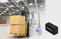 forklift with lithium battery