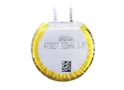 Grepow Round Shape Lithium Polymer Battery 3.8V 330mAh 4730027