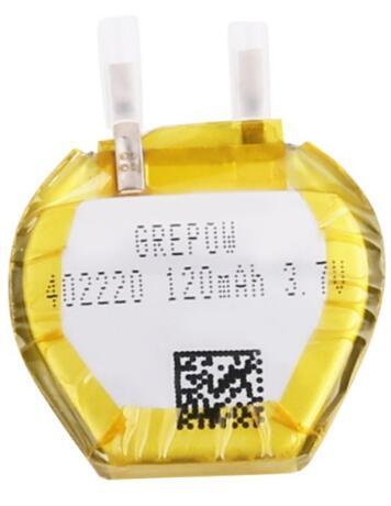 Grepow 120mAh 3.7V Irregular Hexagon Shaped Lipo Battery 4022020