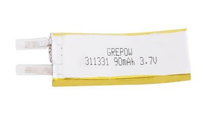Grepow 3.7V 90mAh LiPo Curve Shaped Battery 3113031