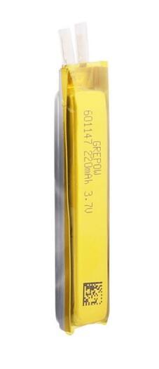 Grepow 220mAh 3.7V Rectangle Shaped Lipo Battery 6011047