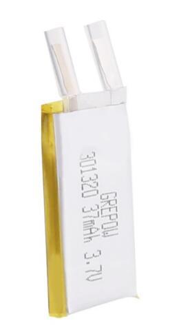 Grepow 37mAh 3.7V Rectangle Shaped Lipo Battery 3013020
