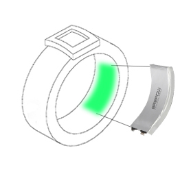 Curved battery for smart ring