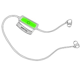 Curved battery for bluetooth headset