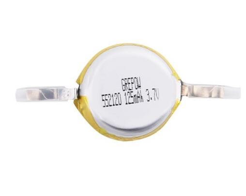 Grepow 125mAh 3.7V Round Shaped Lipo Battery 5521020