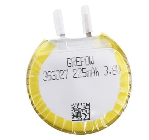 Grepow 225mAh 3.7V Round Shaped Lipo Battery 3630027
