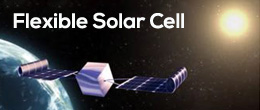 New, flexible solar cells that can be deployed in space