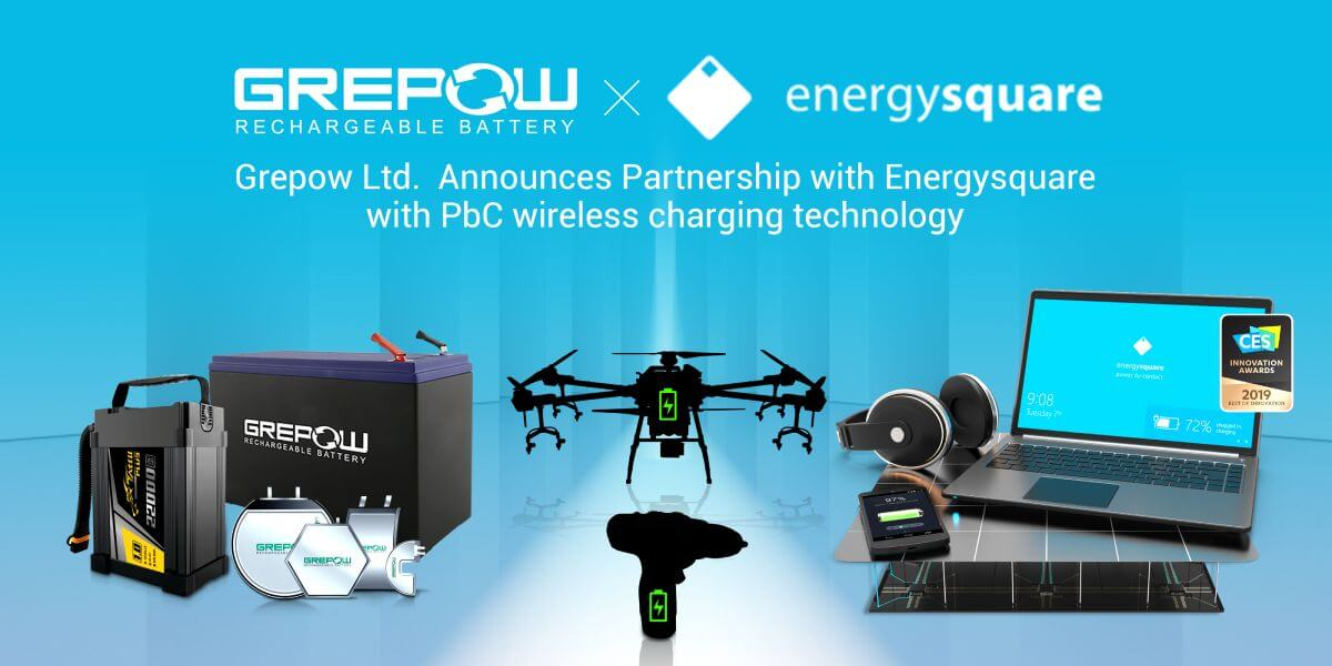 Grepow Ltd. Announces Partnership with Energysquare with PbC? wireless charging technology