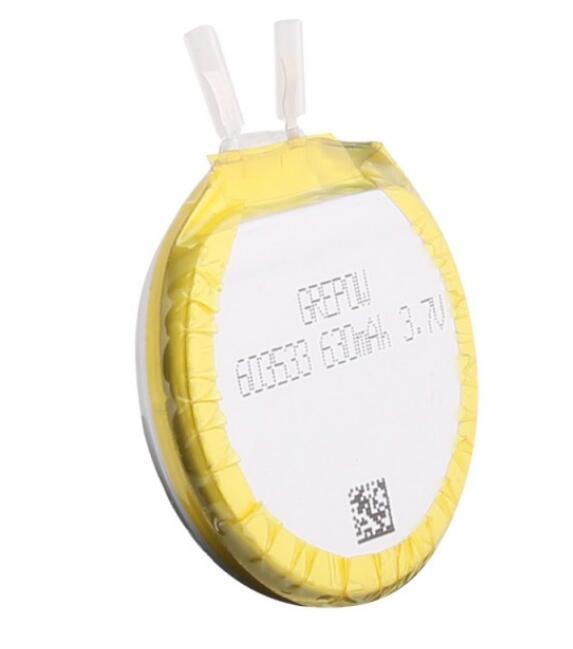 Grepow 3.7V 630mAh 1S1P LiPo Round Shaped Battery 6035033