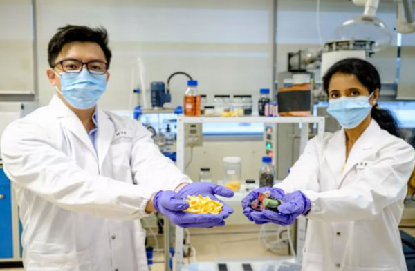 Orange peel is used to extract valuable metals from used batteries