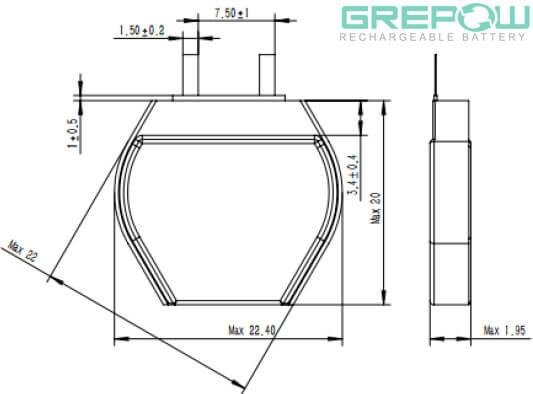 Hexagon Battery GRP2022020