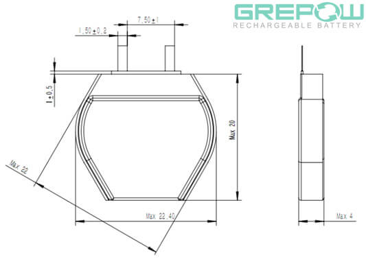 Hexagon Battery GRP0422055