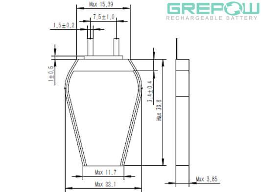 Hexagon Battery GRP3922031