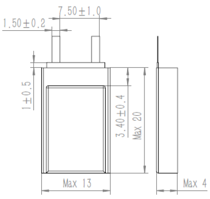 GREPOW 80mAh Bluetooth headset battery struct