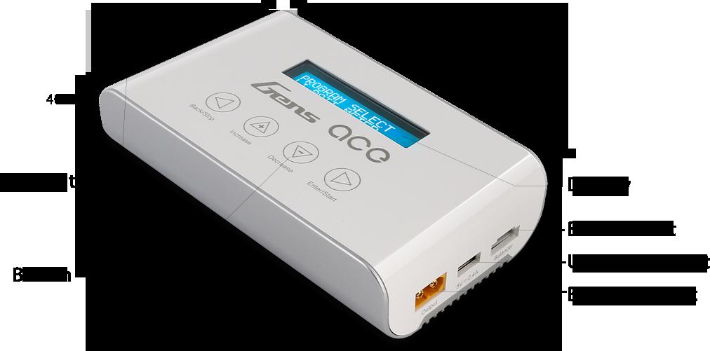 Gens ace Imars3 smart balance rc charger model