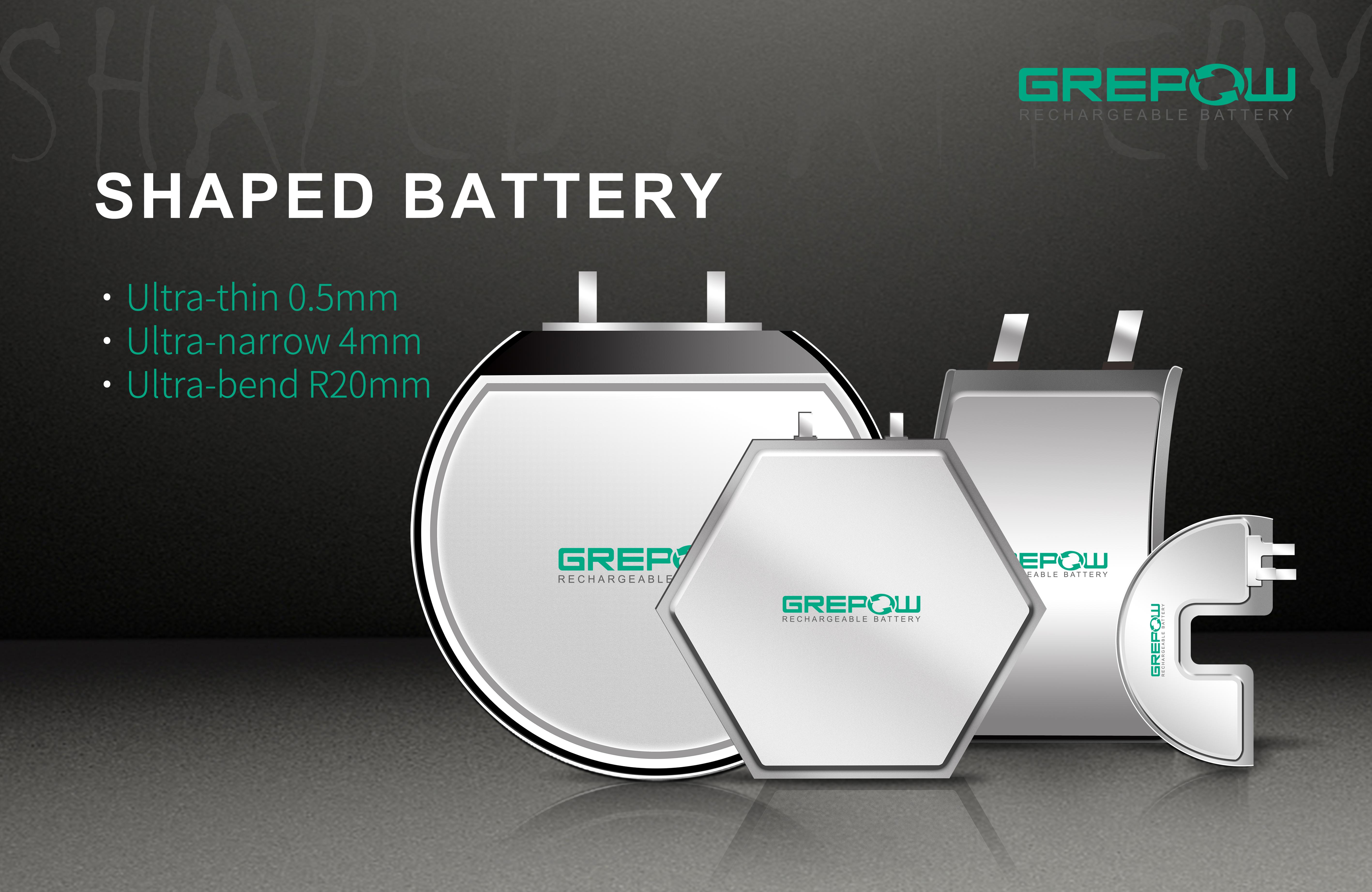 shaped battery grepow