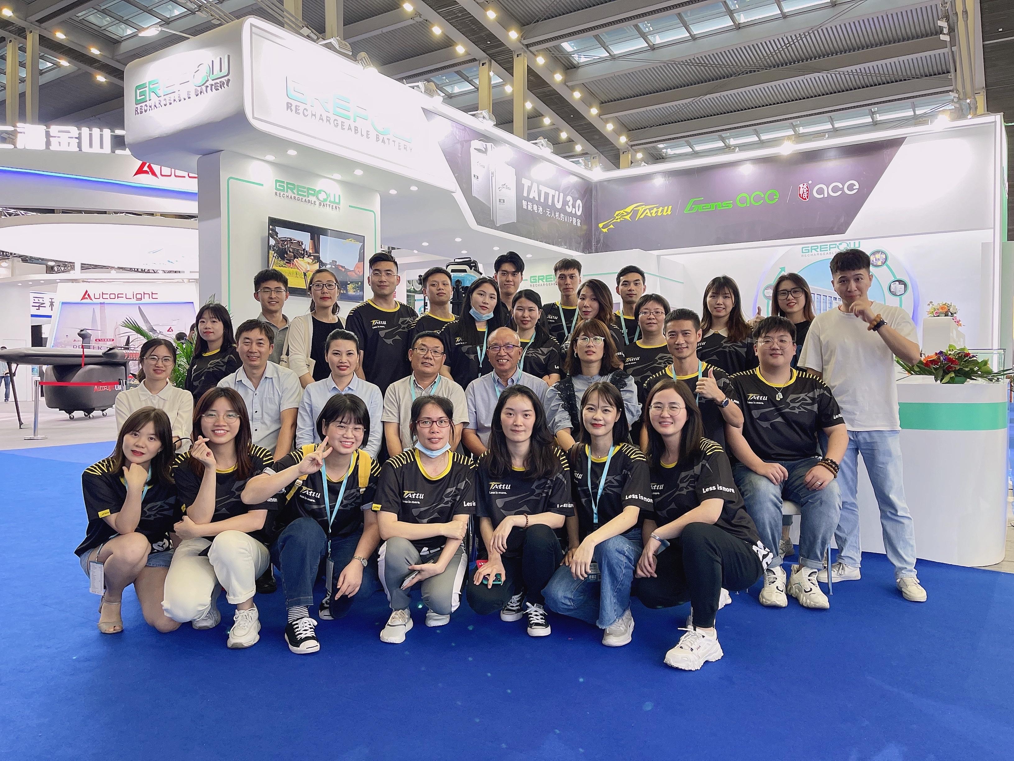 Grepow Tattu Team done the drone world expo