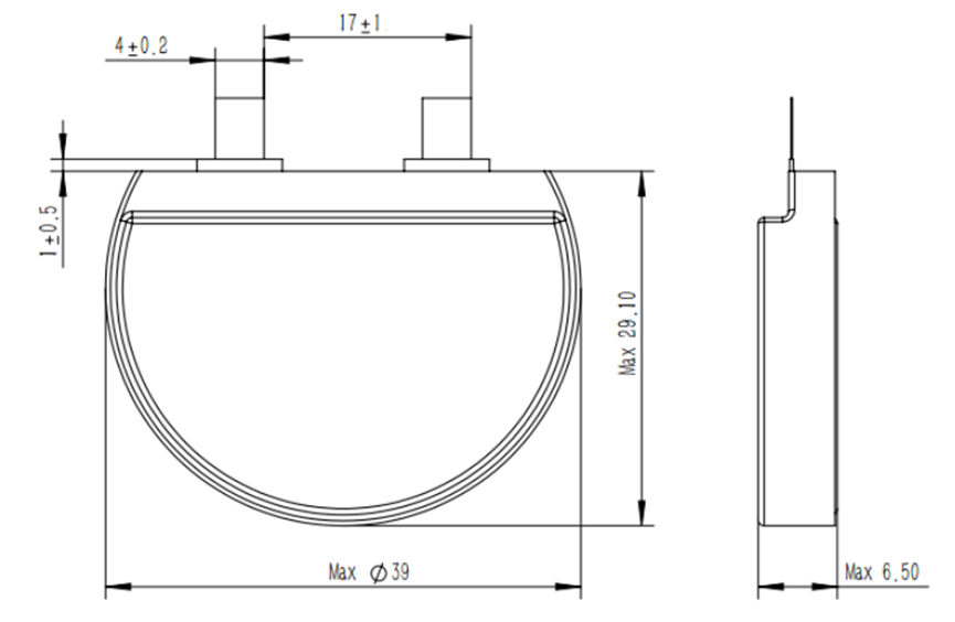 Round battery structure